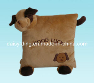 Plush Cushion with Dog Embroidery pictures & photos
