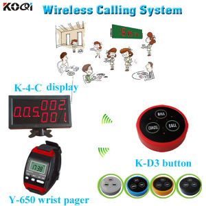 Wireless Paging System Pager Receiver K-4-C with Watch and 3key Button pictures & photos