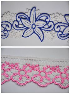 Chemical Milk Yarn Multiple Color Embroidery Lace for Accessories pictures & photos