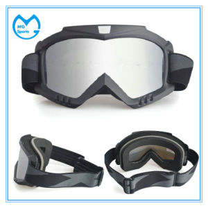 Adult Mirror PC Lens Motocross Goggles with Mask pictures & photos
