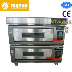 Twin Deck Electric Pizza Oven for 4 Trays pictures & photos