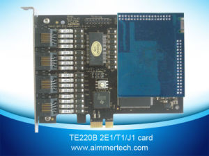 Te220b PCI Express 2 E1/T1/J1 Asterisk Card with Vpmoct128 Echo Cancellation