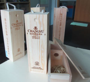 Customized Gift Boxes Wooden Red Wine Boxes pictures & photos