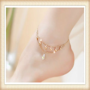 New Design Pearl and Metal Parts Fashion Jewellery Anklets pictures & photos