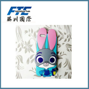 Rabbit Cartoon Unicersal Silicone Phone Case pictures & photos