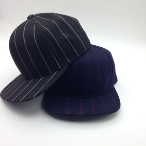 Cotton Plain Custom Snapback Cap (ACEW142) pictures & photos