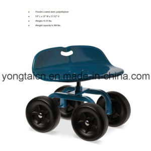 High Quality 4-Wheeled Rolling Garden Scooter pictures & photos
