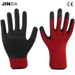 Polyester Shell Latex Crinkle Coated Labor Protective Industrial Gloves (LS202) pictures & photos
