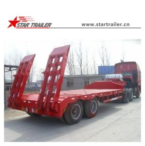 2axles 40ton Lowbed Semi Trailer pictures & photos