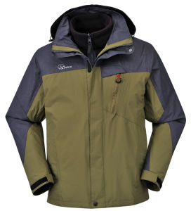 New Style Nylon/PU Breathable 3 in 1 Outdoor Jacket pictures & photos