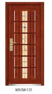 High Quality Low Price Steel Wooden Door (WX-SW-131) pictures & photos