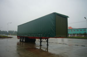 China Supplier 3-Axle 50tons Curtain Side Semi Trailer pictures & photos