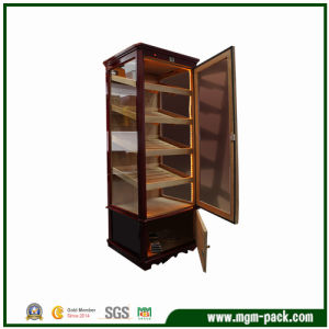 Large Size Multilayer Drawers Wood Cigar Cabinet pictures & photos