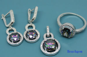 925 Sterling Silver Jewellery Set with Mystic Cubic Zirconia (S3310) pictures & photos