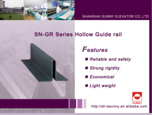 Hollow Guide Rail for Elevator (SN-GR) pictures & photos