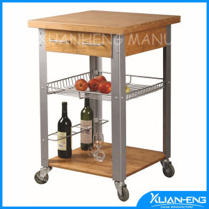 Bamboo Kitchen Trolley with Drawer&Shelf pictures & photos