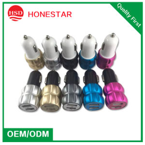 Very Fashion Double USB iPhone Car Charger pictures & photos
