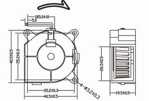 High Quality 5V 12V 24V 40mm 4020 DC Blower Fan 40X40X20mm pictures & photos