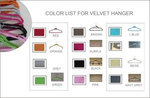 Hot Stemped Logo Velvet Silk Towel Hanger Cheap Plastic Hanger pictures & photos