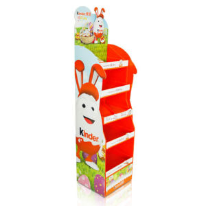 Point of Sale Cardboard Pallet Display for Kinder, Retail Floor Display Stand pictures & photos
