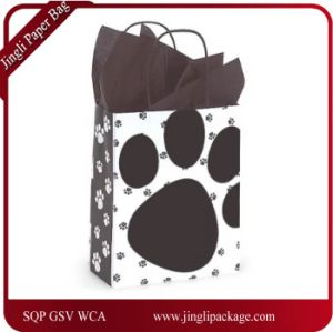 Pooch′s Paw Doggie Print Paper Medium Shopper Gift Bag pictures & photos