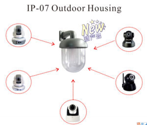 Waterproof Outdoor Housing for Small Dome Camera (CCTV camera) Configured with Foscam & Easyn PTZ IP Cameras pictures & photos