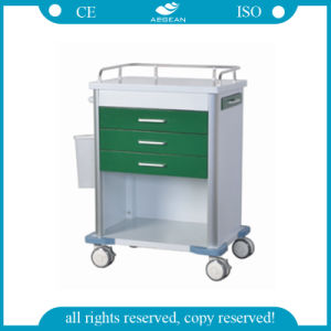 AG-GS005 Hospital Dark Green Medication Trolley pictures & photos
