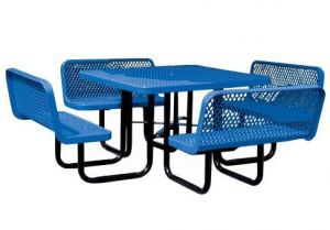 36-Inch Round Picnic Table with Chairs Stamped Metal Fabrication pictures & photos