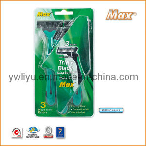 Good Triple Blade Stainless Steel Disposable Razor (LA-8410-1) pictures & photos