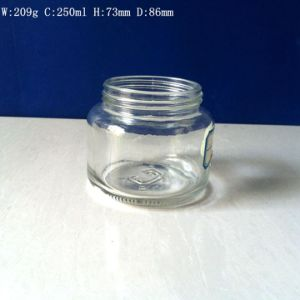 250ml Food Grade Clear Glass Jar with Screw Cap pictures & photos