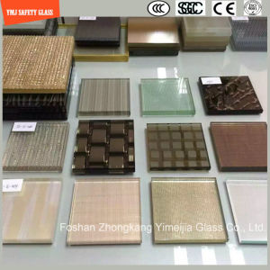 4-19mm Safety Construction Glass, Sand Blasting, Hot Melting Patterned Glass for Hotel & Home Door/Shower/Partition/Fence with SGCC/Ce&CCC&ISO Certificate pictures & photos