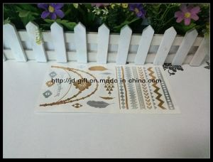 Bracelets Jewelry Inspired Metallic Gold and Silver Temporary Tattoo Stickers, Support Customized Design pictures & photos