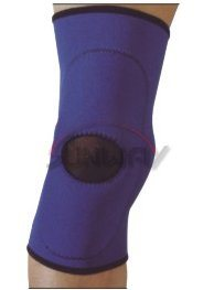 Elastic Neoprene Knee Pad Knee Support with Hole (NS0020) pictures & photos