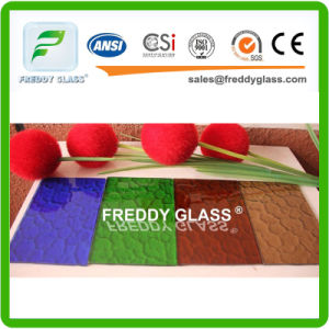 Bronze Woven Patterned Glass/Colored Patterned Glass/ Tinted Patterned Glass pictures & photos