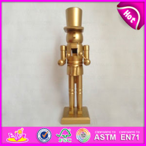 2015 Golden Color Wooden Nutcracker Toy, Wooden Soldier Nutcracker Toy Promotion Gift, Cheap Small Wooden Promotion Gifts W02A072A pictures & photos