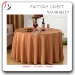 Light Coffee Color Restaurant Long Fall Table Covers (TC-09) pictures & photos