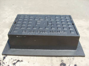 Black Bituminous D. I. Manhole Cover with Aluminium Moulding pictures & photos