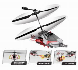 Transformation & Combat 2 in 1 Function Mini 3CH RC Helicopter Model with Gyro