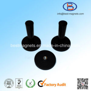 D66 Rubber Coated Magnet Gripper for LED Lights Strong NdFeB Magnet Pot pictures & photos