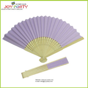 Bamboo Ribs Paper Hand Fan Folk Arts pictures & photos