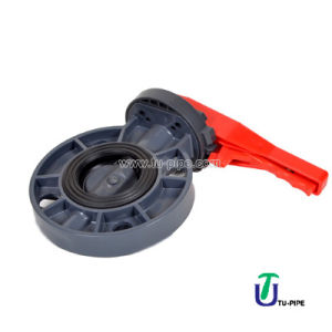 UPVC Butterfly Valves DIN Pn 10 (Handle lever type) pictures & photos