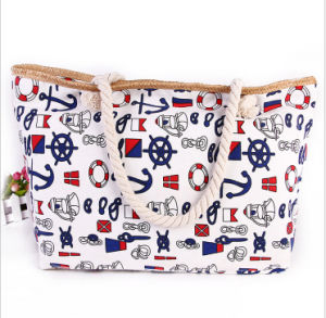 The New Bag Canvas National Wind Ladies Shoulder Bag Trend Ladies Beach Bag pictures & photos