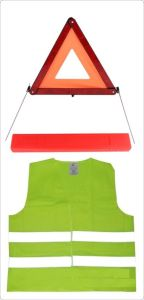 Reflective Warning Triangle Warning Emergency Safety Kit for Auto Car Use