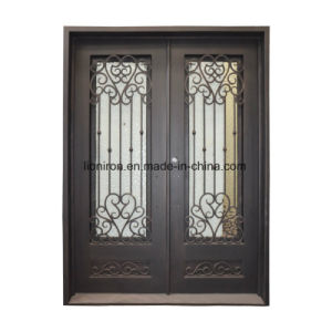Iron Double Entry Doors with Elegant Design pictures & photos