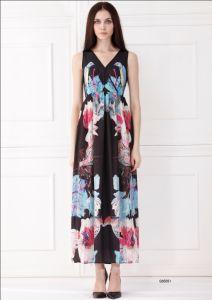 Woman Sleeveless Long Fashion Dress (c65051)