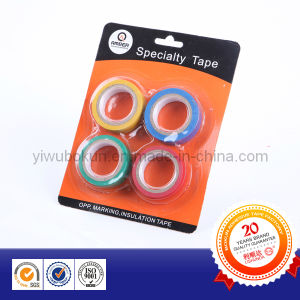 Electrical PVC Insulation Tape 4colors Packed pictures & photos