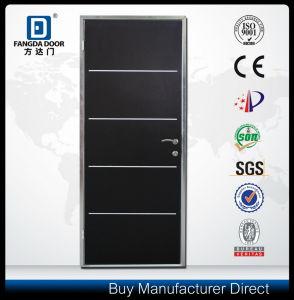 Upscale Door &Room Dividers Aluminium Strips Inserted Steel Door pictures & photos