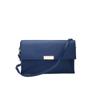 2015 Dark Blue Crossbody 100% Genuine Leather Bag (MBNO039076) pictures & photos