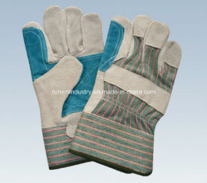 Cow Split Leather Working Gloves 1114 pictures & photos