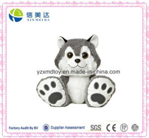 Big Toes Smile Husky Plush Stuffed Dog Toy pictures & photos